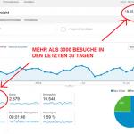 Mehr als 3000 Besuche auf dem YUHIRO Blog in den letzten 30 Tagen