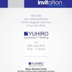 Einladung zur Eröffnung der neuen Zweigstelle