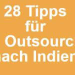 eBook - 28 Tipps für das Outsourcing nach Indien