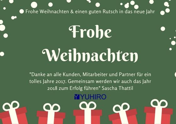 Wir wünschen frohe Weihnachten und einen guten Rutsch in das neue Jahr!