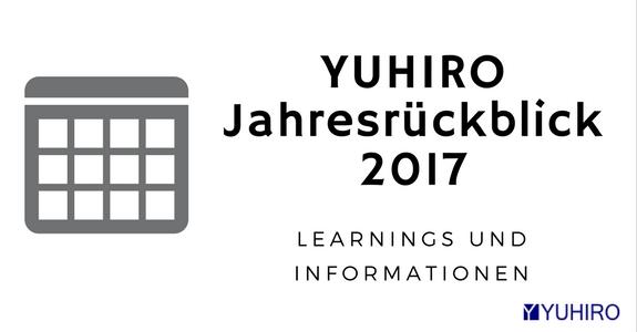 Yuhiro Jahresrückblick 2017