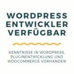 WordPress Entwickler verfügbar