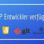 PHP Entwickler verfügbar